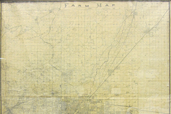 1899 W. C. Willits Farm map