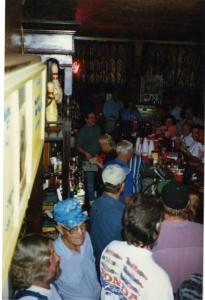 Last night inside the Goosetown Tavern.