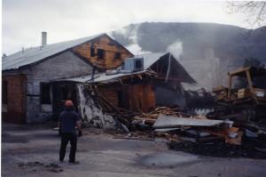 Goosetown demolition in 1998.