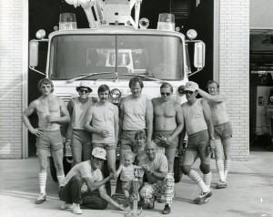 Golden Fire Department with State Convention trophy, 1977