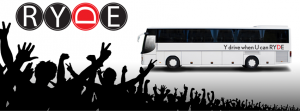 RYDE logo bus crowd