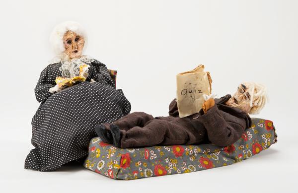 Hand-made apple head dolls