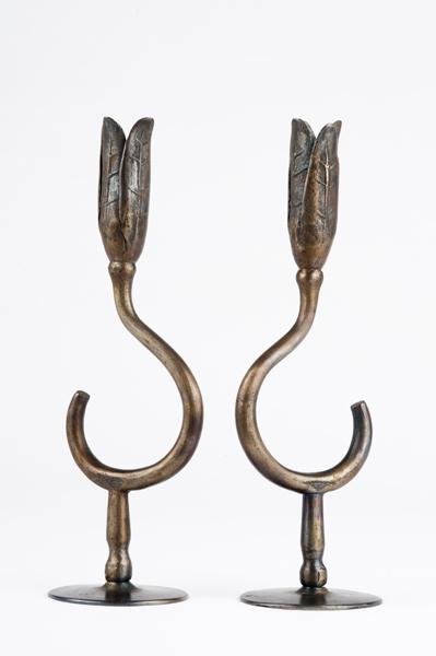 candlesticks made by Golden blacksmith Henry Oldag