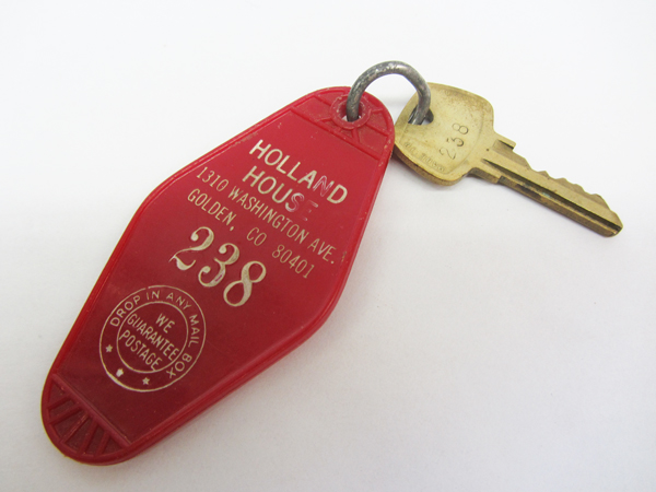 Holland House key chain