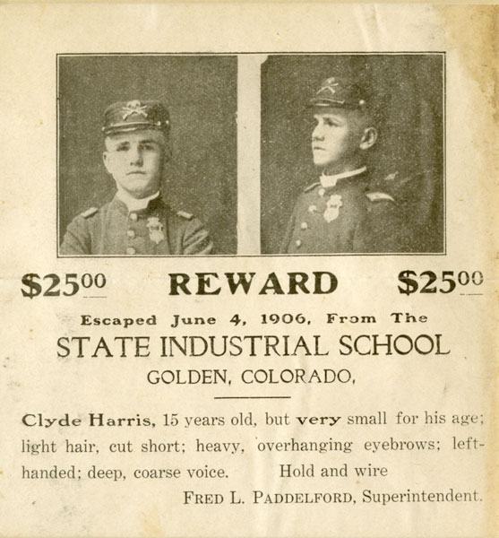 Clyde Harris, State Industrial School, Golden, Colorado