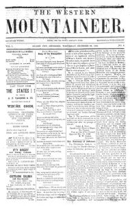 western mountaineer front page