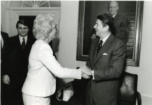 Holland Coors with President Ronald Reagan