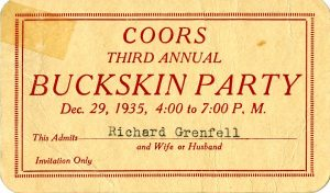 Coors Buckskin Party invite