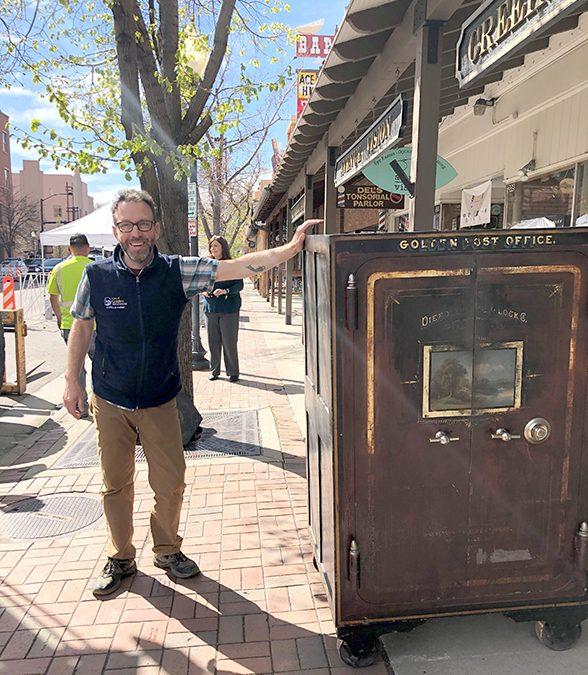 How do you move a 3,800-pound safe? Very carefully!